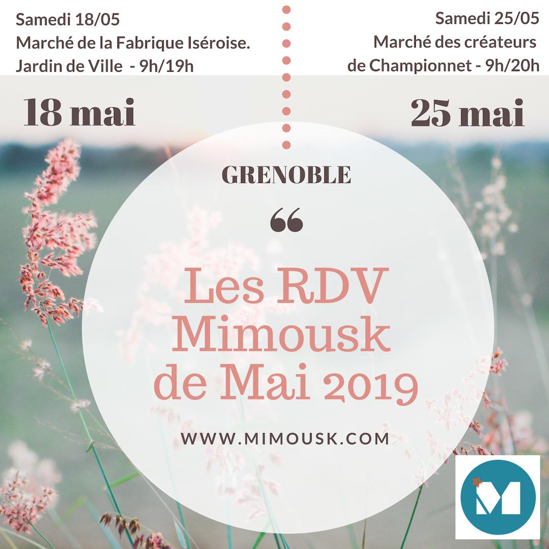 Les RDV Mimousk de Mai 2019