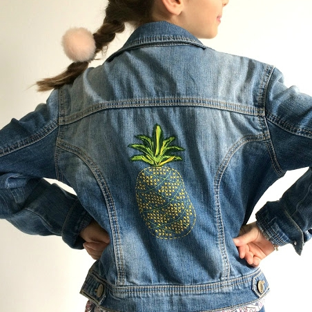 Broderie ananas facile